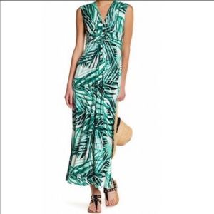 Eliza J Palm Maxi Dress size 2 NWT
